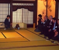 Farewell party (at left in the photo: Dr. Minobe of the School of Global Japanese Studies