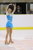 Nishino defended her women's intercollegiate skating title right up to her last year (photo courtesy of Meiji University Sports).