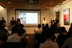 Presentations based on cooperation between the European and Japanese students