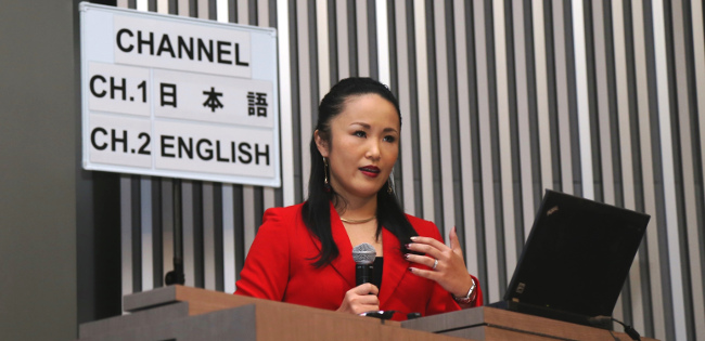Mariko Oi, the first Japanese national to serve as a reporter for the BBC World News