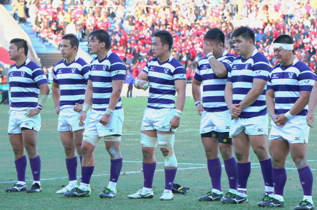 The Meiji University club eventually lost by a single point.