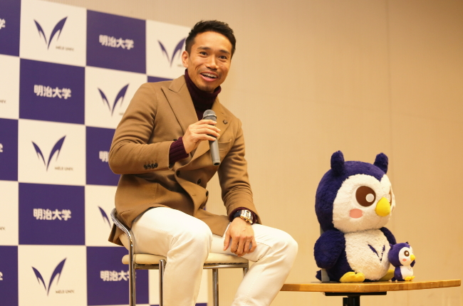 First talk event for Nagatomo at his alma mater