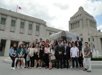National Diet Building which the students visited on their field trip