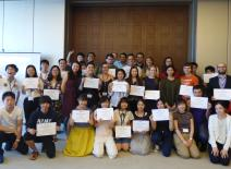 at the end of the program completion ceremony (Session 2)