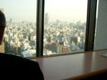 明大自慢のリバティタワー17階食堂からの眺め
